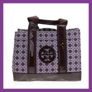 Tory Burch Purple Canvas Tote Bag